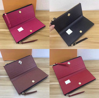 Wholesale dark chocolate for sale - Group buy classic ladies long wallet for women multicolor coin purse card holder package Organizer wallet ladies zipper wallet pocket