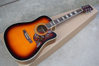 Wholesale acoustic guitar bone resale online - inch Acoustic guitar with Bone nut saddle Hummingbird Pickguard Rosewood fingerboard Can be customized