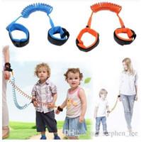 çocuklar bebek koşum takımı toptan satış-3 Renkler Çocuk Anti Kayış Kayış Çocuk Çocuk Güvenliği Anti Kayıp Bilek Bağlantı 1.5 m Açık Ebeveyn Bebek Tasma Bant Bebek Yürüyor Koşum