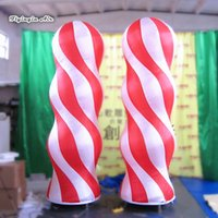 Wholesale outdoor advertising lights for sale - Group buy Hair Salon Outdoor Advertising Inflatable Colorful Column m m Height Lighting Tube For Barbershop Entrance Decoration