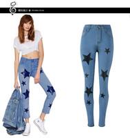 Wholesale nylon pants for women resale online - 2019 Women New Fashion Autumn Spring Pants Jeans Women Cotton Denims Ripped Jeans For Women Skinny Jeans Size S XL