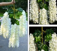 Wholesale chinese new year accessories resale online - Artificial Wedding Flowers Simulation Wisteria Vine Wedding Decorations Long Short Silk Plant Bouquet Room Office Garden Bridal Accessories