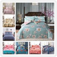 Wholesale black quilt king size resale online - Modern Fashion Bedding sets Reversible Quilt Duvet Cover Single Double King size