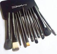 makyaj yaparım toptan satış-12 adet M AC Marka Makyaj Fırçalar Setleri Kiti Makyaj Fırça Seti brocha de maquillaje DHL Ücretsiz Kargo