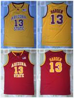 james rápidos venda por atacado-NCAA 13 JAMES HARDEN Colégio Jerseys Arizona State Sun Devils Camisa de Basquete 100% Costurado Faculdade Basquete Jerseys S-3XL Transporte Rápido