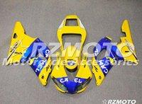 1999 yamaha r1 carenados amarillo al por mayor-Calidad OEM Nuevos kits de carenado ABS completos aptos para YAMAHA YZF R1 98 99 YZF1000 1998 1999 Conjunto de carrocería R1 personalizado amarillo azul