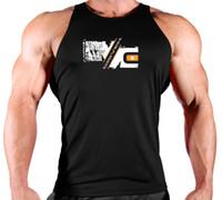 ingrosso singlette vuote-Canotta senza maniche da uomo Bodybuilding Canotta da uomo Bodybuilding Canotta da uomo in cotone da allenamento