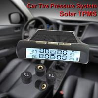 Wholesale solar tools resale online - USB or Solar Charging Car TPMS Tire Pressure Monitoring System HD Digital LCD Display Auto Alarm tool Wireless external Sensor