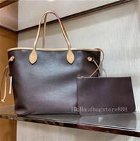 çanta lüksleri toptan satış-AA boyutu 2adet / yüksek kalite Gerçek Deri moda Çantalar tasarımcı kompozit çanta bayan çanta taşımak cüzdan kadınlar lüks çiçek ile set