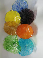 Wholesale stones for decorations for sale - Group buy Fashion Murano Glass Decorative Plates for Wall Hanging Elegant Wedding Wall Decorations