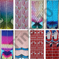 Wholesale sexy cosplay clothing online - 3D Socks Women Ladies Mermaid Printing Stocking Sexy New Cartoon Cosplay Costume Bottoming Fish Long Socks home clothing pair T1I1150