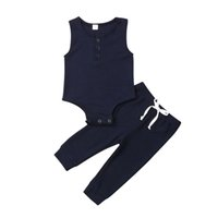 Toddler Baby Girl Boy Unisex Vest Tops Romper Jumpsuit Trousers Clothes 0-24M