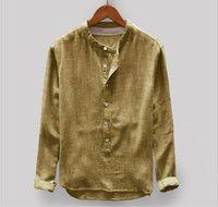 camisas macias da flanela dos homens venda por atacado-2019 New Moda Luxo Mens Designer shirt Marca de mangas compridas camisa de flanela de algodão Chemise Camiciaer Homens cor sólida Camisas Casual