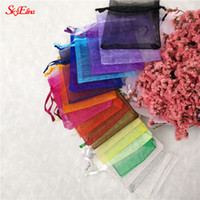 bolsas de tul al por mayor-50Pcs tulle Organza Bag Wedding Party Decoration Pounch Packaging Gift Bags Bolso de hilo Eugen 6x8 8x11 10x15 12x17 19x29cm6z