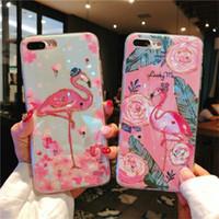 couverture silicone fille iphone achat en gros de-Coque époxy souple pour iPhone X XS XR XMAX Couverture mignonne Motif Flamingo Cartoon pour iPhone 6 6s 7 8 Plus Capa de protection pour les filles