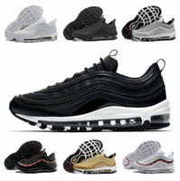 men running shoes 97 women sports trainers 97s OG triple black metallic gold silver bullet white 3M classical outdoor sneakers with box 2020