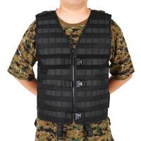 ingrosso attrezzo della molla-Lixada Outdoor Uomo Molle Tactical Vest caccia Gear Carrier Vest Sport sicurezza caccia pesca con tasca idratazione