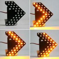 spiegel indikatoren groihandel-1Pc DC12V 33SMD 7000K LED Gelbe Fahrzeuge Auto Rückspiegel Lampe Pfeil Steering Blinkeranzeige Car Styling