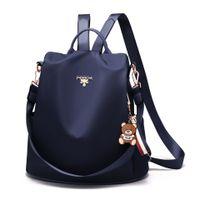 ingrosso confezione verticale-New Spring versione coreana del nylon anti-furto di Verticale Quadrato donne dello zaino della spalla sacchetto femminile CollegeTravel Packs Borse Streetwear
