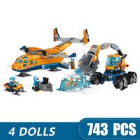 küçük oyuncak bloklar toptan satış-743 ADET Küçük Yapı Taşları Oyuncaklar Legoe ile Uyumlu Arctic Tedarik Düzlem Hediye kız erkek çocuklar için DIY