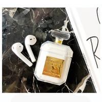 ingrosso tpu bottiglie di profumo-Cassa del silicone della bottiglia di profumo 2019 per la cassa protettiva del trasduttore auricolare di Airpod Caso molle di TPU di lusso antiurto e di goccia libera per Apple