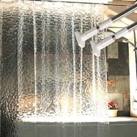 cortinas preços venda por atacado-1.8 * 1.8 m moldproof à prova d 'água 3d engrossado banheiro banho cortina de chuveiro ecológico branco melhor preço cortina de chuveiro