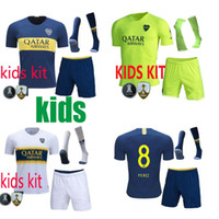 Wholesale boca juniors jersey thai for sale - Group buy 18 Boca Juniors third children kits Soccer jerseys Uniforms kids kits Thai Quality Soccer Jersey TEVEZ CARDONA green Football shirt