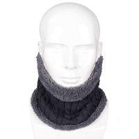 aquecedores de malha pescoço venda por atacado-Homens Mulheres Crianças Neck Warmers 2018 New Unisex Inverno Quente Anel De Malha Cachecóis De Lã Grossa Dentro Elástica Knit Silenciadores