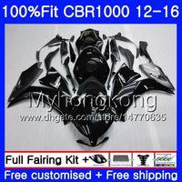 Black Glossy Fairing Tank Cover Kit Fit  CBR600F2 92 93 1991-1994 01 B7