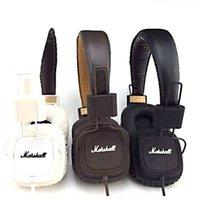 dj caliente al por mayor-Calientes auriculares con micrófono Marshall Major Deep Bass DJ Auricular Hi-Fi de alta fidelidad auricular profesional de DJ del monitor sobre la oreja los auriculares