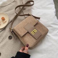 Wholesale vintage winter handbag for sale - Group buy Fashion Scrub Leather Crossbody Bags For Women Solid Color Shoulder Messenger Bag Female Winter Mini Handbags and Purses sac