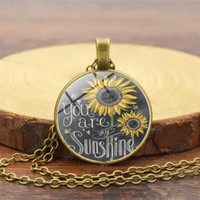 Wholesale vintage sunflowers for sale - Group buy 2019 Women Fashionable Sunflower Vintage Style Necklace Personalized Time Gemstone Necklace Jewelry Yellow Flower Necklace Accessories