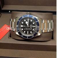 vendeur de boîte de montre achat en gros de-6 Montres de luxe en couleur Automatique Her1tage Black Bay 79220 Hol vendeur de luxe Box Paperwork Montre Homme Montres Top qualité