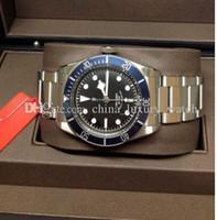 vendedor de cajas de relojes al por mayor-6 relojes de lujo en color Automático Her1tage Black Bay 79220 Hol seller Caja de lujo Papeleo para hombre Relojes Relojes para hombres de calidad superior