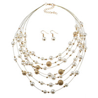 Wholesale suits chain accessories resale online - Simple Low key Luxury Jewelry Necklace Chain Wedding Accessories Korean Style New Multilayer European And American Frosted Pearl Suit