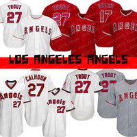 1cd52340819 Angels 27 Mike Trout 17 Shohei Ohtani Los Angeles 2019 new Baseball jersey
