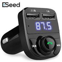 carregador de carro auxiliar aux venda por atacado-Transmissor FM Modulador Aux Kit Mãos Livres Bluetooth Sem Fio Universal Car Audio MP3 Player com 3.1A Carregador Rápido Dual USB Carregador de Carro