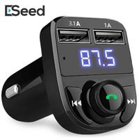 ingrosso usb per il caricabatteria senza fili samsung-Trasmettitore FM Modulatore Aux Vivavoce Bluetooth wireless per auto Kit universale per auto Lettore MP3 per auto con caricatore per auto doppio USB a ricarica rapida 3.1A