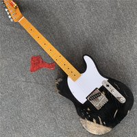 Wholesale left handed white guitar resale online - Customized retro guitar maple fingerboard white guard board can be customized as required free delivery