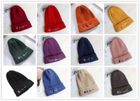 Wholesale color fedora for sale - Group buy Champion Knit Beanies Skiiing Cap Boys Girls Hip Hop Pointed Hat Adults Candy Color Woolen Kintted Hats Crochet Gorro Bonnet Unisex C103006