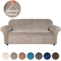 High Grade Velvet Stretch Sofa Cover for Living Room Couch Slipcover Furniture Protector Case Sofa Cover Elastic 1 2 3 4 Seater