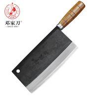 cuchillas chinas al por mayor-Cuchillo de alta -Grado forjado hecho a mano de la hoja de acero al carbono de la cocina del cocinero del cuchillo chino vegetal Cleaver cuchillos de cocina
