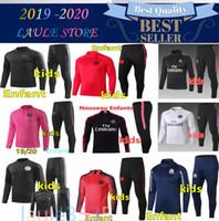 Wholesale black children tracksuits for sale - Group buy New kids Psg tracksuit psg soccer jogging jacket MBAPPE POGBA Paris child football training suit