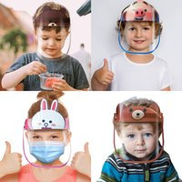 Wholesale children safes for sale - Group buy 20 Designs Kid Cartoon Face Shield Reusable Anti fog Protective Mask Full Face Anti splash Dustproof Protection Children Safe Party Masks