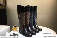 Wholesale boy s shoes resale online - brang New Knee Leather Beggar Shoes Side Zip Women s Boots Thigh High Fashion Boot with Box