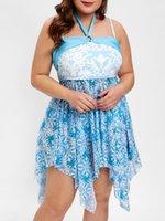brasilianischer bikini xs großhandel-Belleziva Frauen Plus Size Bikini Ses Tribal Print Asymmetrische Badebekleidung Sommer Lässig Gepolsterte Weibliche Beachwear Brasilianischen Biquini