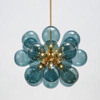 Wholesale suspension light bubbles resale online - Nordic Glass Bubbles Parlor Led Pendant Light Loft Deco Hotel Hall Bedroom Dining Room Suspension Lamp LLFA