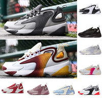 styles de chaussures pour hommes achat en gros de-Hommes Zoom 2K Lifestyle Chaussures De Course Blanc Noir Bleu ZM 2000 des années 90 style Trainer Designer Baskets Extérieures M2K Confortable Causal Chaussures 36-45