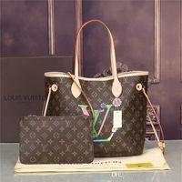 Wholesale genuine brand name handbags resale online - 2019 styles Handbag Famous Designer Brand Name Fashion Leather Handbags Women Tote Shoulder Bags Lady Leather Handbags Bags purse