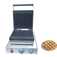 Wholesale waffle irons resale online - Commercial Café Dessert Machine Square Waffle Maker Oven Waffle Iron Machine Electric Waffle Maker
